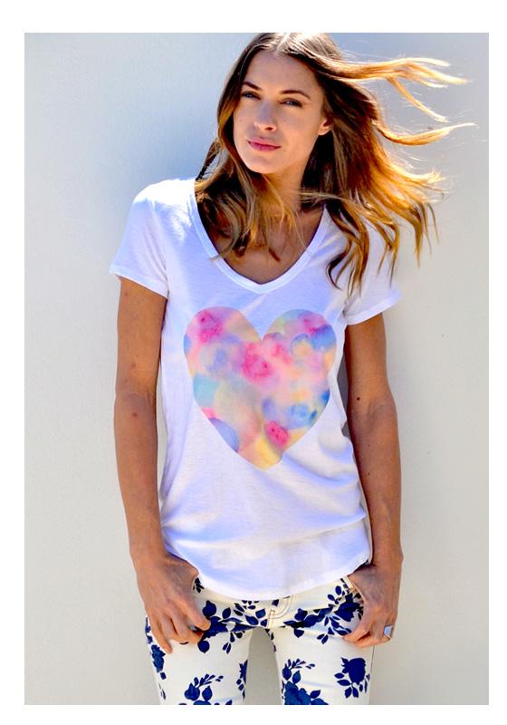 Love Heart T'Shirt - Watercolour Heart