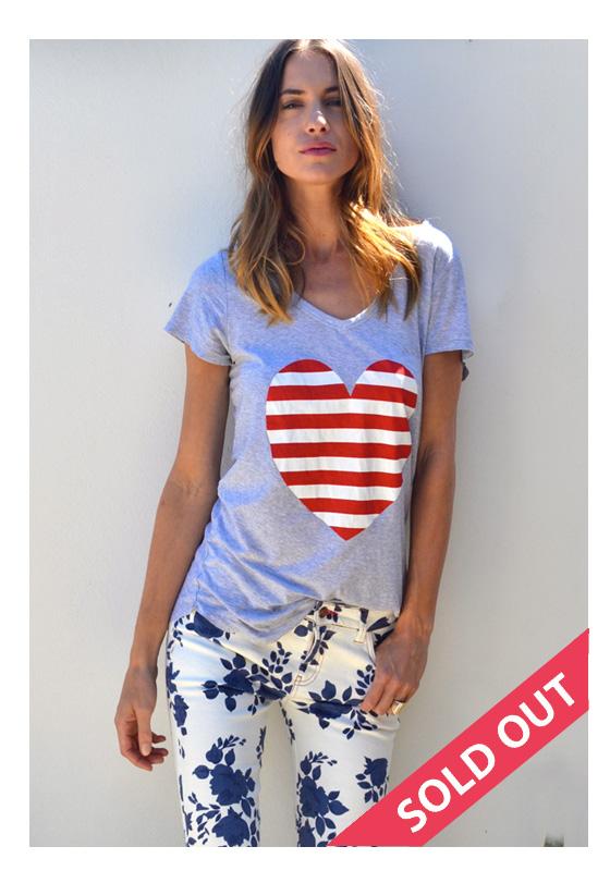 32bf97e0773a Love Heart T'Shirt – Red & White Stripe – Sophie Moran