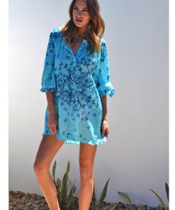 Cotton Kaftan - Butterfly Print