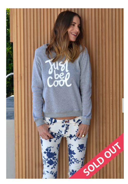 just be cool grey sweater