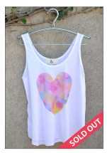 Singlet with watercolour heart