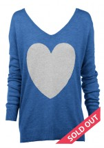 Electric blue with grey heart