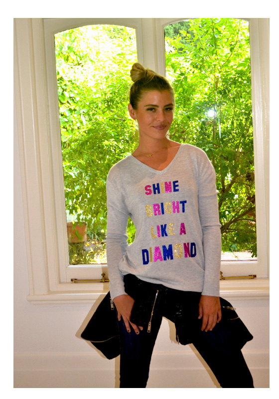 shine bright like a diamond sweater
