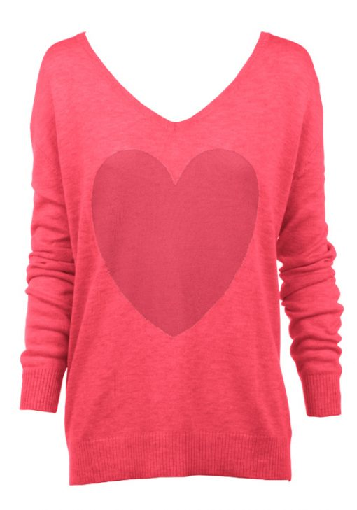 Watermelon with pink heart sweater