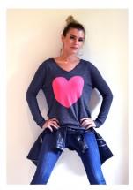 charcoal watermelon heart sweater