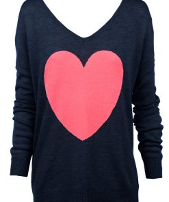 navy with Watermewlon Heart Sweater