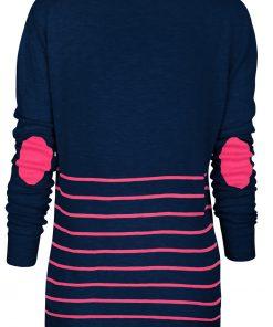 navy pink stripe sweater