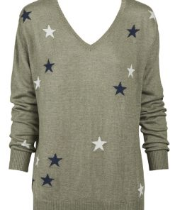 khaki with stars sweater