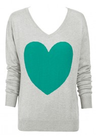 Frost & Jade Heart Sweater