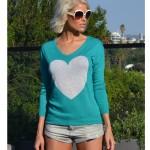 Jade & Frost Heart Sweater