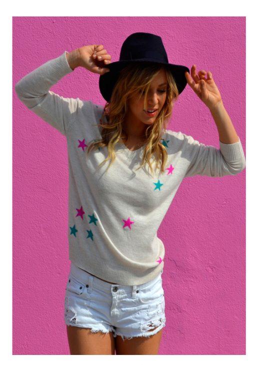 Oatmeal stars sweater