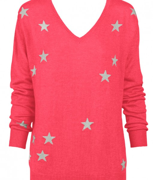 Watermelon & Stars Sweater