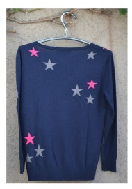 Silk Cashmere Star Sweater