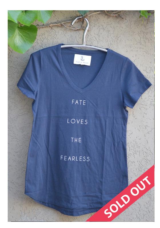 t'shirt navy fate loves