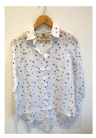St Tropez Shirt White Black Stars