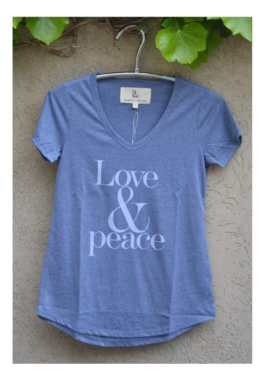 Tshirt Chambray Love & Peace