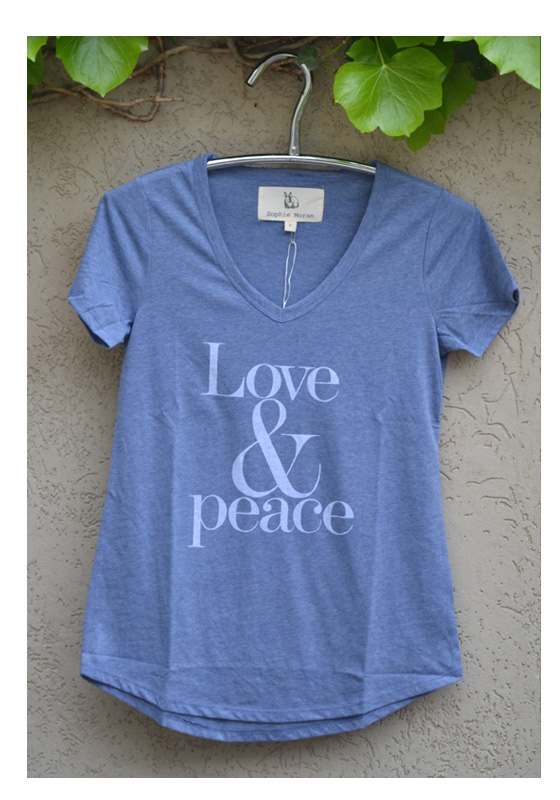 Tshirt Chambray Love & Peace